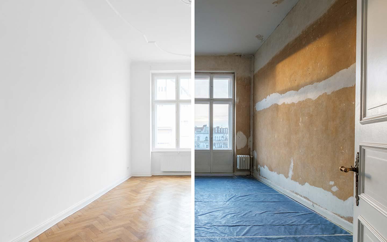 Renovierung Hamburg, vorher und nachher
